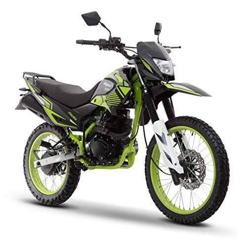 Motocicleta Italika de Doble proposito- Modelo DM 150 Sport Negro/Verde