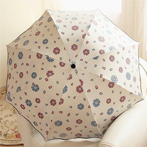 Xx101 Paraguas Lotus Hoja Borde Protector Solar Anti-UV Ultraligero Negro Plástico Lluvia Y Paraguas De Lluvia Accesorios de Viaje (Color : #4)