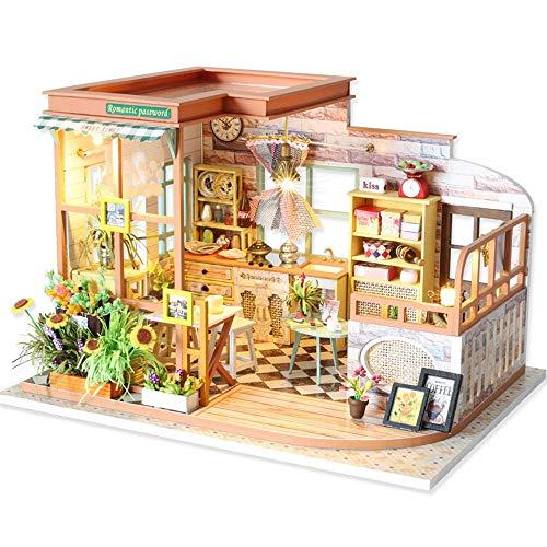 ChengBeautiful DIY Puppenhaus 3D-Montage Haus Miniatur mit Möbel DIY...