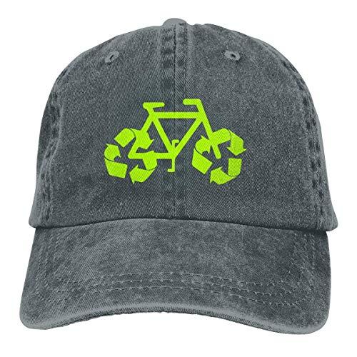 iuitt7rtree Fitness Hip Hop Gorra de viaje, absorbe la humedad, tapa de cráneo de secado rápido, reciclaje de la bici vaquero jeanet gorra de béisbol ajustable para papá