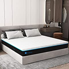 ✪ STAY COOL ALL NIGHT LONG: Avenco premium 12 inch memory foam mattress queen is designed with gel-infused foam with open cells so that it's ventilated to meet your needs. Gel foam naturally adjusts the mattress temperature to make you sleep comforta...