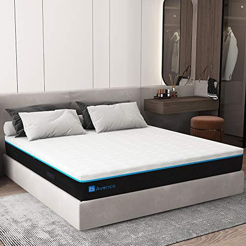 King Mattress, Avenco 12 Inch King Memory Foam Mattress in a Box, King Bed Mattress with CertiPUR-US Foam for Supportive, Pressure Relief & Cooler Sleeping, 10-Year Support