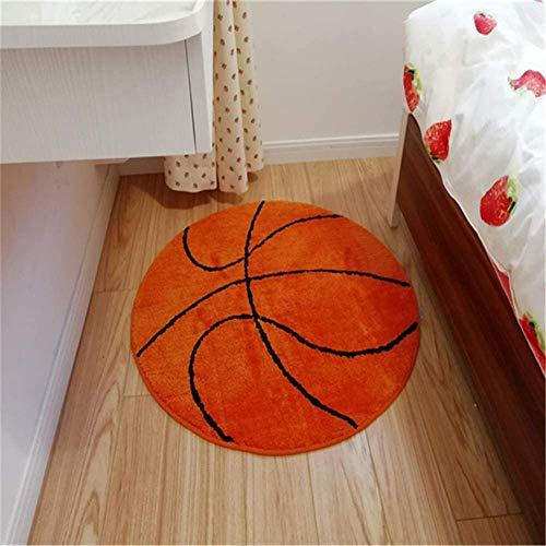 ZM-Shoes Sport Fans Teppich Basketball Runde Teppich Teppich Beleg Sports Art Deco Wohnzimmer Teppich Schlafzimmer Teppich Start Teppich Plüsch,A