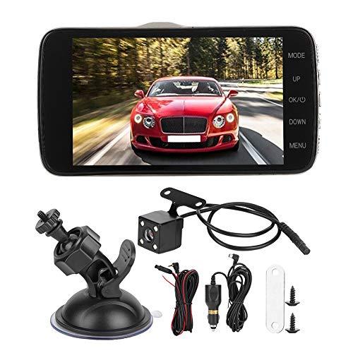 Driving Recorder, 1080P dubbele lens 4 in 1080P HD dubbele lens Auto Driving Recorder Night Dashboard camera Wide Angel Dash Cam 4 in Verkeersrecorder