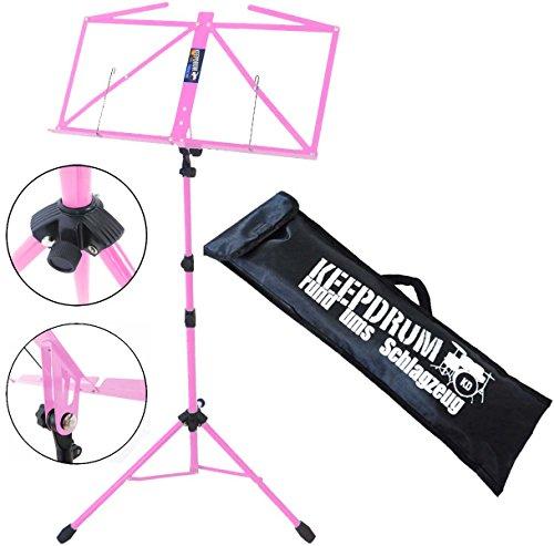 Keepdrum MUS3 PK Notenständer Rosa Pink mit Tasche