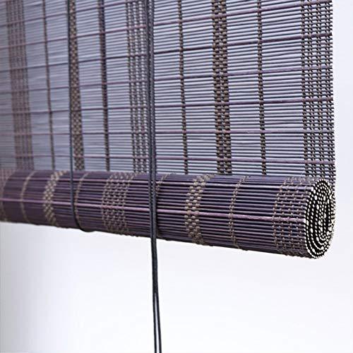 PUZZLEYM Lichtfilterung Aufrollbarer Sonnenschutzvorhang Aus Bambus For Innen Und Außen, Lichtdurchlässig, Nicht Transparent, Abgeschnitten, Rollläden Aus Holz Kann in verschiedenen Größen angepasst w
