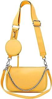 AMHDV Women Multipurpose Crossbody Bags Small Shoulder Bag Fashion 3 in 1 Zip Handbags with Coin Purse