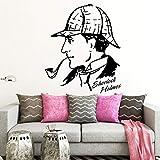 wZUN Pegatinas de Pared calcomanías de Vinilo Concha Detective Ventilador Dormitorio Sala de Estar decoración extraíble decoración del hogar 28X33cm