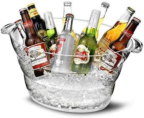 Wine Ice Bucket Wine Chiller Party Beverage Tub Clear Acrylic Food Grade Ice Bucket 12L Ice product image