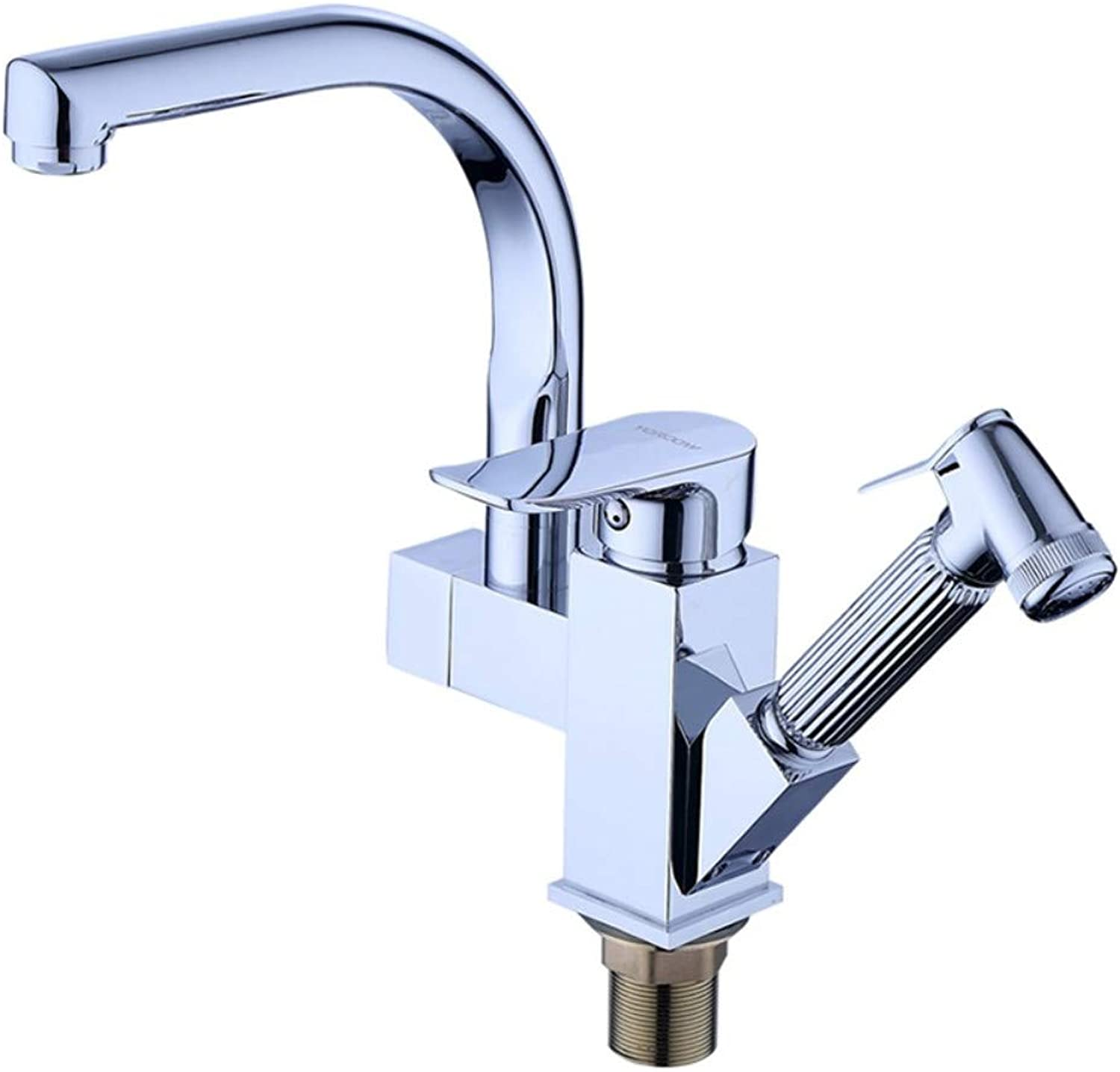 XPYFaucet Faucet Tap Hot And Cold Pull Kitchen 304 Stainless Steel Sink Sink Pull