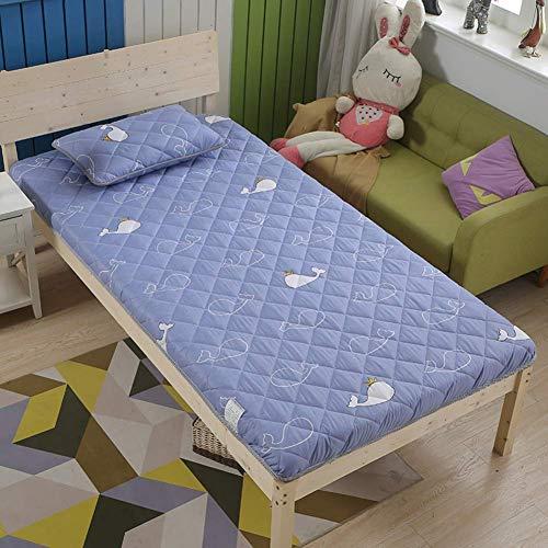 GuoEY Tappetino Tatami, 5 cm di Spessore Tappetino Futon Materasso Topper Tradizionale Giapponese futon Addensato Queen Size Dormitorio Singolo, B, 150 x 200 cm