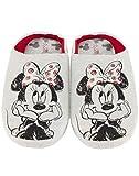 Zapatillas de casa Grises Slip-On de Disney Minnie Mouse Sketch para Mujer
