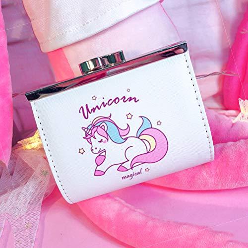 TENDYCOCO Card Bag PU Wallet Unicorn Imitation Leather Bag Cartoon Student Coin Purse for Women Girls