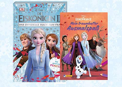 Eiskönigin Disney 2. Das offizielle Buch zum Film + Mein Traumhafter Ausmalspaß (Malbuch), ab 3 Jahren