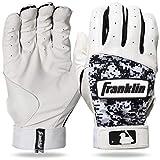 Franklin Sports MLB Digitek Baseball Batting Gloves - Gray/White/Black Digi - Adult Large