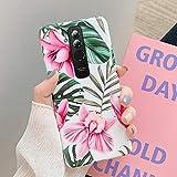 Surakey compatibile con Huawei Mate 20 Lite Custodia fiori foglie modello