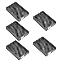 uxcell ESD帯電防止ネジプレート スクリュートレイ ネジ収納トレイホルダー 3-3.5mm直径ねじに適用 273穴 5個入り