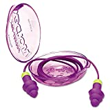 Moldex Rockets Reusable Earplugs, Corded, 27nrr, Purple/Bright Green, 50 Pairs/Box
