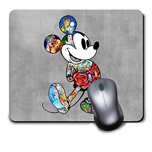 Mickey Mouse Disney Gaming Mouse Pad Waterproof Mousepads with Non-Slip Rubber Base for Laptop Desktop Computer,Size 9.6 X 8 INCH