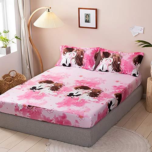 haiba Protector de colchón impermeable, ajustable, transpirable, a prueba de manchas, hipoalergénico y no ruidoso, fácil ajuste, tamaño king, 150 x 200 cm + 23 cm