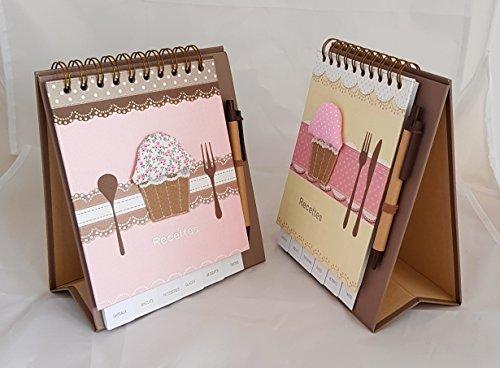 Sign - Carnet de Recettes Chevalet avec Stylo 48 Pages - 20,5 x 17,5 cm - Paris Stock