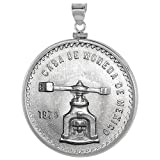 Sterling Silver Casa Moneda de Mexico Bezel 41.6 mm Coin Screw Top Edge One oz Coin NOT Included