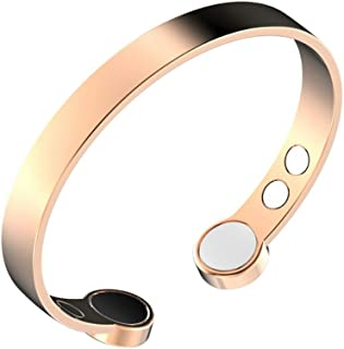 a57db9921 Rosian & Levine ™ Magnetic Pure Copper Arthritis Therapy Bracelet with  Extra Strong Magnets for