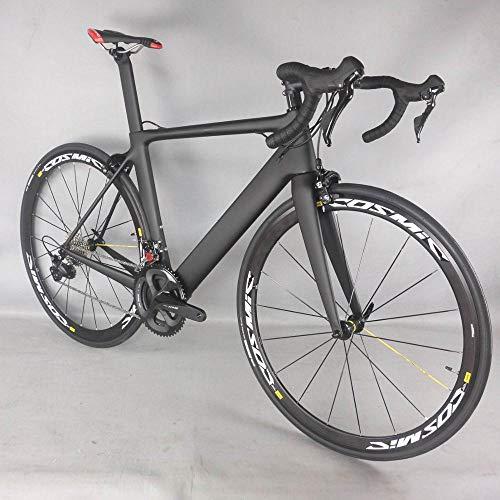 Zhangxaiowei Rennrad 2021TT-X25 Kohlefaser, Kohlefaser in Straßenrahmen, Geländerennrad R7000 bis 22 Geschwindigkeit Größe 54 (48, 51,56, 58 cm)