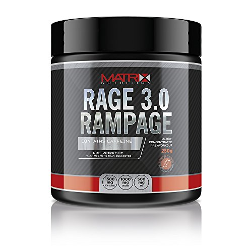 Matrix Nutrition Rage 3.0 Rampage Pre Workout - Massive Powerful Workout Energy Stimulant - 50 Servings (Fruit Punch)