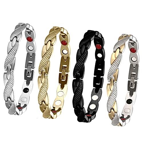 Elegant Magnetic Therapy Fit Plus Bracelet, Slimming Weight Loss Anti-fatigue Magnetic Bracelet (4PCS)