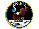 GHaynes Distributing ROUND Apollo 11 Nasa Mission Seal Sticker Decal (logo decal eleven space) Size: 4 x 4 inch