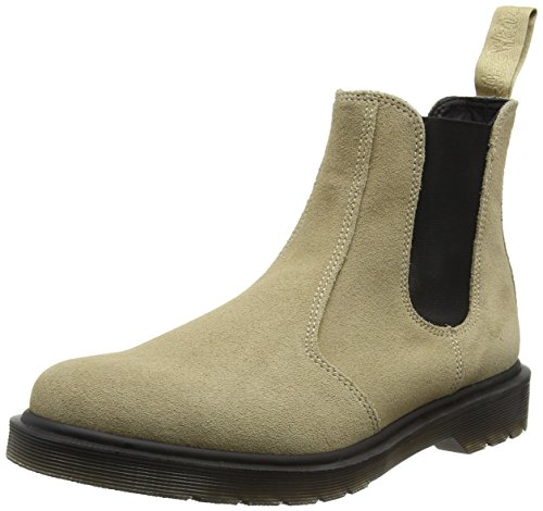 Dr. Martens Herren 2976 Suede Chelsea Boots, Elfenbein (Milkshake), 40 EU