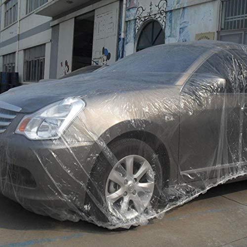 Auto Hoezen Regenjas Outdoor Universele Waterdichte Anti-Stof Zonwerende SUV Wegwerp PE Auto Cover, voor Auto's tot 6.6m (257 inch) in Lengte