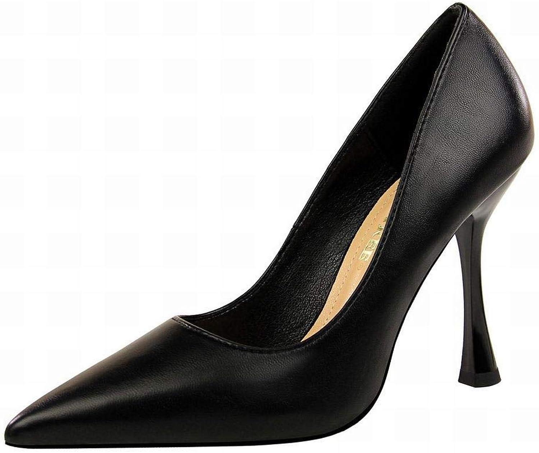 MAGAI Damen Weingläser mit super hohem Absatz Absatz Absatz Spitzen sexy schlanke High Heels Damenschuhe  23d398