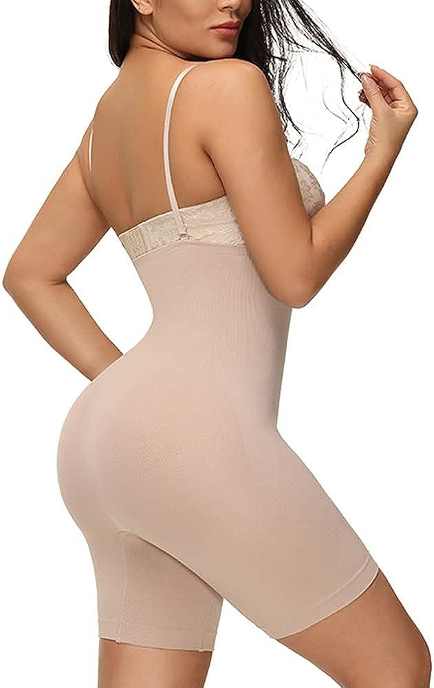 fortix Women Selling Hi-Waist Shapewear Strap Slimmer Beige Thigh Shaper Deluxe
