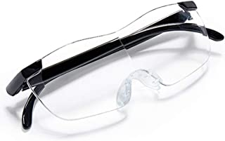 Llx Glasses-Type Reading Magnifier, Portable High-Definition Headband Magnifying Glass for The Elderly, 1.8X, Philatelic Jewelry, Tea Stamps, Identification of Banknotes, etc. (Color : Ruby RED)