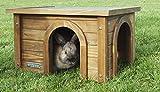 Kerbl Nagerhaus für Kanninchen (Haus aus Spießtanne, mit wetterfestem Bitumendach, zwei Eingänge für artgerechte Haltung, für Außengehege geeignet, Rückzugsmöglichkeit für Hasen) 82852