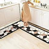 ACAMPTAR Fußmatten für den Haushalt, Küche, Wasser- und Öl-Absorption, rutschfest, schmutzabweisend, Küchenleiste, Türvorleger - A3_50 x 240 cm