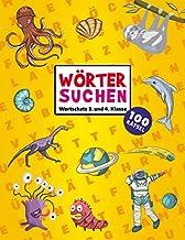 Rätselheft für Kinder - Wortsuchrätsel: Wortschatz 3. & 4. Klasse | Wörter suchen im Wortgitter | Rätselblock ab 8 Jahre | 100 Buchstabensalat Rätsel ... für Mädchen & Jungen (German Edition)