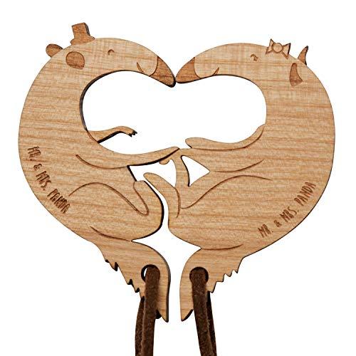 Mr. & Mrs. Panda Valentinstag, Liebesgeschenk, Pärchen Schlüsselanhänger Ameisenbär verliebt - Farbe
