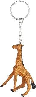 ميدالية مفاتيح على شكل زرافة من توي ميجور - بني