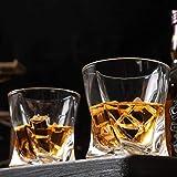 KANARS Whiskey Gläser Set, Bleifrei Kristallgläser, Whisky Glas, Schöne Geschenk Box, 4-teiliges, 300ml, Hochwertig - 3