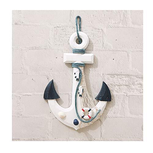 MoreSHOW Náutico mediterráneo Artesanal Artesanal Ancla Pirata Decoración - Ancla de Barco para el hogar, y Accesorio Decorativo para Colgar en la Pared (22 cm x 32 cm)