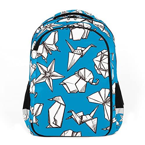 Figuras plegadas de papel de flores de Origami, perfectas para mochilas escolares y de viaje, mochilas de estudiantes perfectas para todas las edades