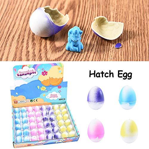 fancyU Uova da Cova, Uova di Pasqua con Giocattoli all'Interno per Bambini Cestino di Pasqua Stuffers Regali Riempitrici Deformazione Puzzle Toy Animal Egg
