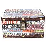 Heaveant Joyero de Madera, Caja de Almacenamiento de Documentos de Estilo Vintage, Organizador de Caja de joyería Decorativa para el hogar, Caja de Accesorios de Tiro