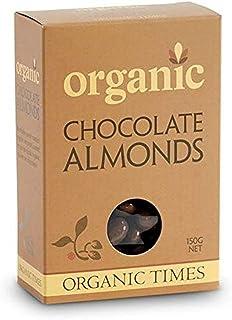 Organic Times Organic Milk Chocolate Coated Almonds, 150 g