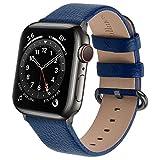 Fullmosa Correa de Reloj para Apple Watch SE Series 7/6/5/4/3/2/1,Correa de Cuero Compatible con iWatch 45/44/40/41/42/38 mm,Repuesto de Correa Reloj para Hombre y Mujer.
