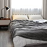 Electric Large Heated Blanket Twin Size 62' x 84' Heating Throw with 4 Heating Levels & 10 Hours Auto-Off & Overheating Protection, Soft Flannel Warming Blanket Throw for Home Use