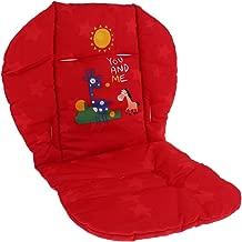 Homyl Coussin Protège Siège Bébé pour Poussette/ Voiture/ Chaise Haute Housse de Protection Respirant Résistant à l'eau - Rouge
